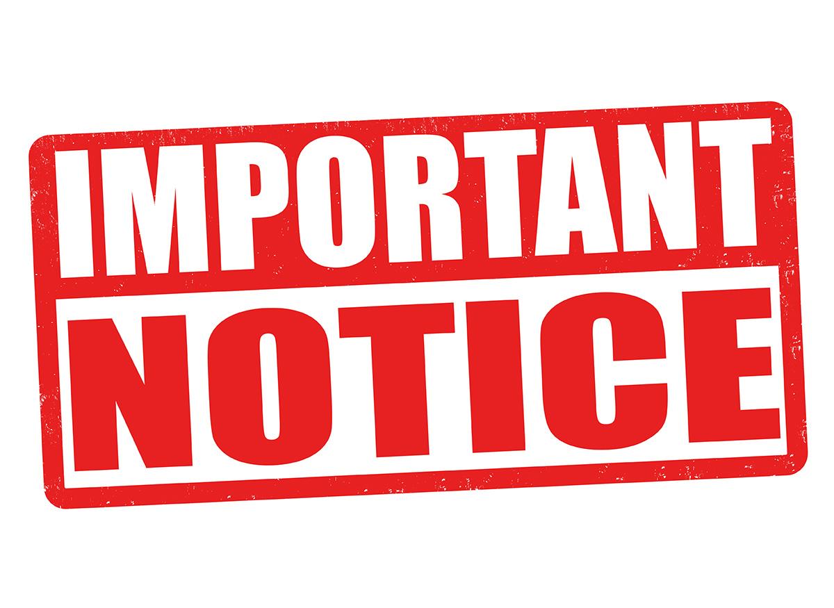 Aviso importante – Important Notice